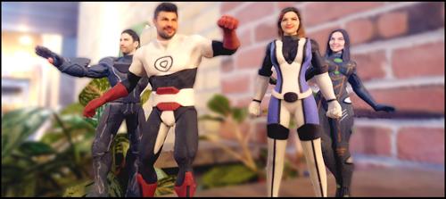 Collectibles, 3D Printing, Superhero action figures