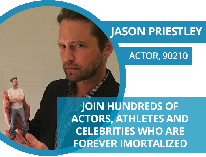 Jason Priestley figurine, 3D action figure, made with 3D printing