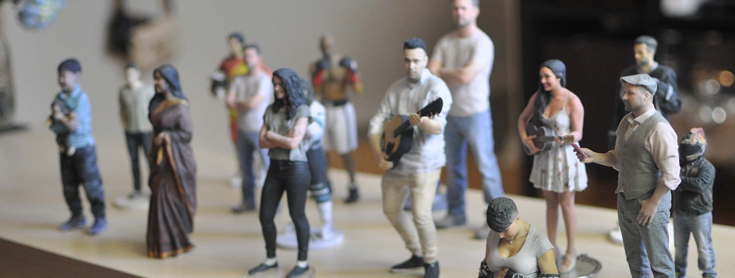 many 3d printed figurines