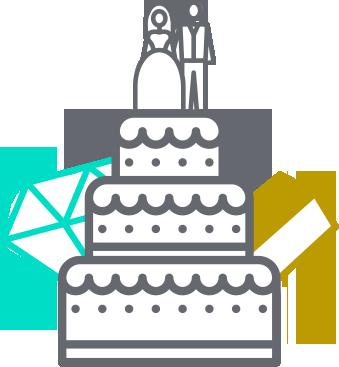 Custom Wedding Cake Figurine