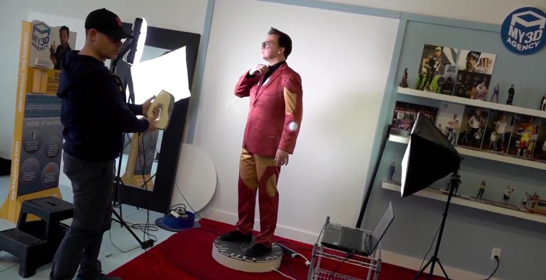 Sean Ward gets 3D scanned in Toronto