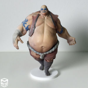 3d printed figurine video game character