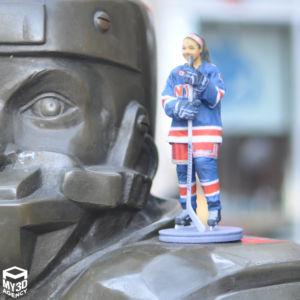 3d printed figurine hockey