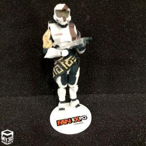 3d printed figurine master chief