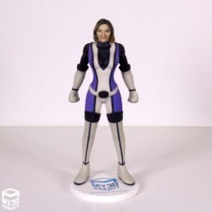 3d printed figurine superhero