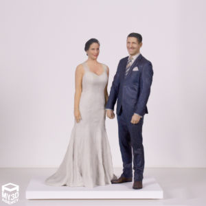 3d printed figurine wedding cake topper